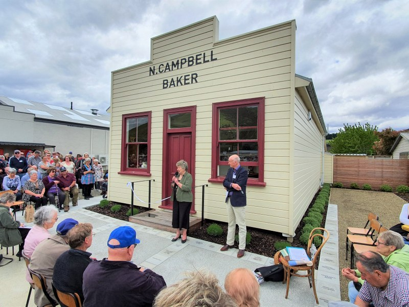 Opening day at the Bakehouse Museum in Millers Flat, Central Otago, New Zealand